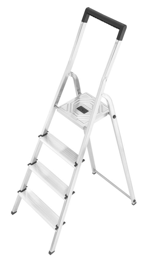 Hailo 259cm L40 Aluminium Safety Household Ladder with black Fracture-Proof