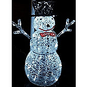 Outdoor LED Christmas Snowman Garden Lighting Decoration - 76cm