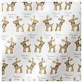 TESCO GLITTERED REINDEER WRAP 3M