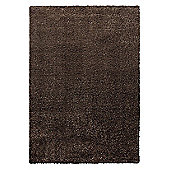Esprit Cosy Glamour Brown Woven Rug - 133 cm x 200 cm (4 ft 4 in x 6 ft 7 in)