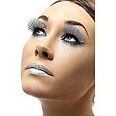 Silver Feather Eyelashes