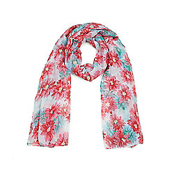 Pink and Green Fresh Florals Summer Scarf