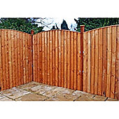 6FT Pressure Treated Vertical Feather Edge (Curved) - 1 Panel Only (Min Order 3 Panels)