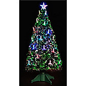5ft Fibre Optic Col Change Candle Tree with 30 Slow RGB Lights