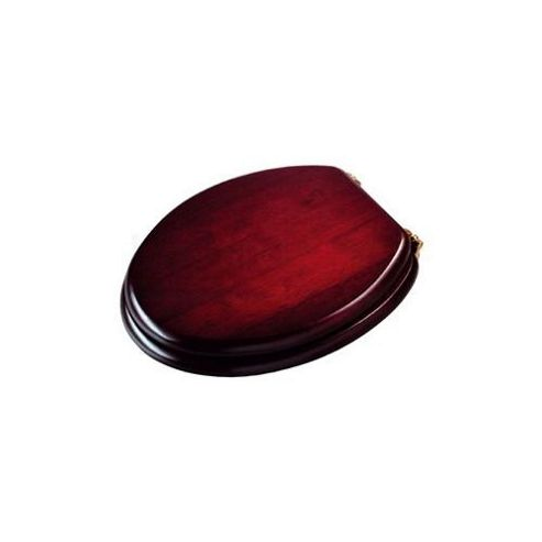 Croydex Wl515202 T.Seat Standard Mahogany/Brass