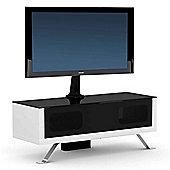 Elmob Arcadia 120-21-FX White Cantilever TV Stand