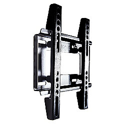 "Duronic TVB122S Extra Slim Fixed Black Wall Bracket 19"" - 37"""