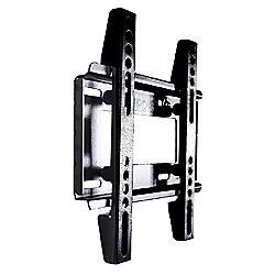 "Duronic TVB122S Extra Slim Fixed Black Wall Bracket 19"" - 37"""