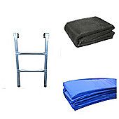 8 Ft Trampoline Accessory pack - Blue Pad, Netting and Ladder