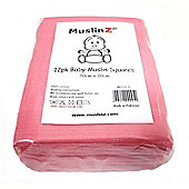 Muslinz Premium High Quality Baby Muslin Squares (Pink, Pack of 12)