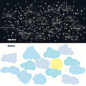 Starry Night Glow In The Dark Children's Wall Stickers