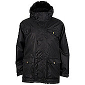 Gulliver Kids Waterproof Taped Seams Fleece Lined Hooded School Jacket Coat - Black