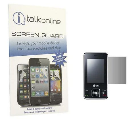 iTALKonline S-Protect LCD Screen Protector and Micro Fibre Cleaning Cloth - For  LG KC550 Osray