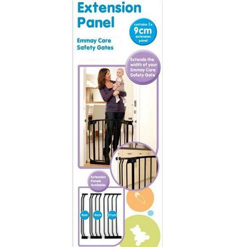 Emmay Care 9cm Extra Tall Gate Extension Black