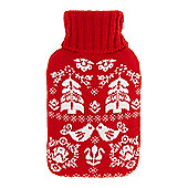 Linea Scandi Hot Water Bottle Red
