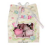 6 Piece Vintage Tea Party Baby Girl Clothes Cupcake Gift