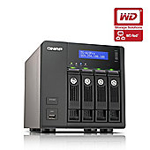 QNAP TS-469 Pro Tower Server 12TB (4x3TB) 4-Bay Turbo NAS for Small and Medium Business Users - (WD RED Drive Model)