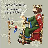 Holy Mackerel Greeting Card - Magna Carta Birthday Greetings card