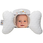 Baby Elephant Ears Neck Support White Minky