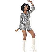 Adult Disco Diva Sexy 70S Costume Large