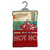 Country Club Microfibre Beach Towel, Tropical