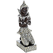 Buddha - Thai Praying Buddha Decorative Ornament - Black / Silver