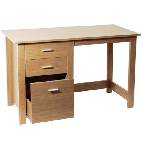 Buy montrose home office storage desk workstation oak from our office desks tables range - Tesco office desk ...