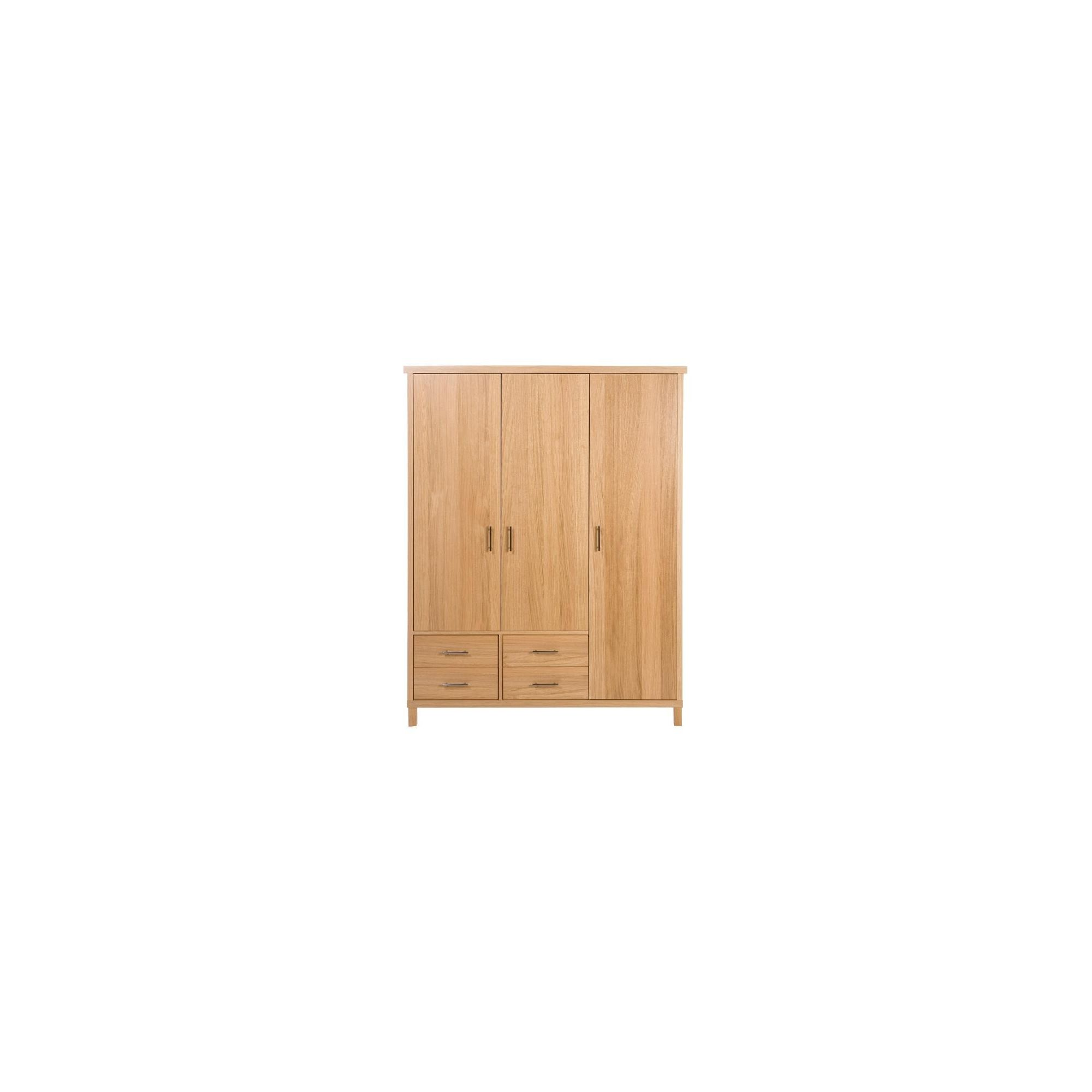 Urbane Designs Vettori Oak Bedroom 3 Door 4 Drawer Wardrobe at Tesco Direct