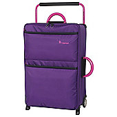 IT Luggage World's Lightest 2-Wheel Medium Purple Suitcase