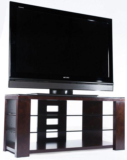 Optimum Chocolate Oak Edge 1000 Open TV Stand