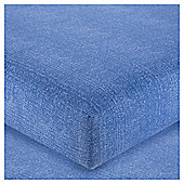Tesco Chambray Fitted Sheet Blue, Single