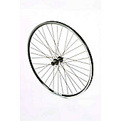 700c Hybrid Rear Alloy Black Q/R Wheel D/W Freewheel