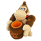 "Official Nintendo Super Mario Plush Series Stuffed Toy - 8"" Donkey Kong Barrel"