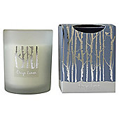 Greenhill & York  Crisp Linen Boxed Candle Blue