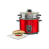 Andrew James Rice Cooker & Steamer in Red