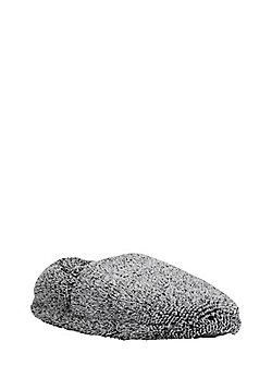 F&F Flecked Fleece Slippers - Grey