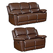 Sofa Collection Lucerne 3+2 Recliner Sofas - Brown