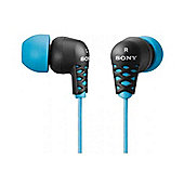 Sony MDREX37BL Earbud Headphone Blue
