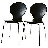 Bistro Chairs Pair Black