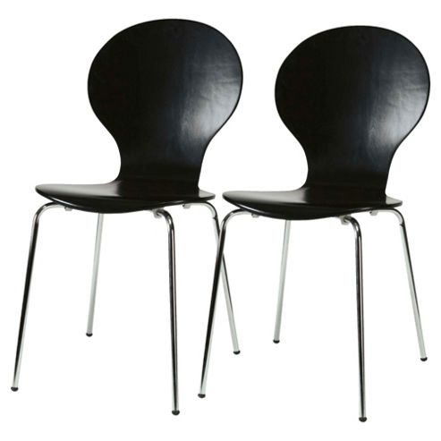 Bistro Chairs Pair Black