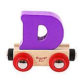 Bigjigs Rail Rail Name Letter D (Purple)