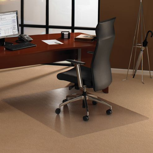 Cleartex Polycarbonate Carpet Chair Mat Rectangular