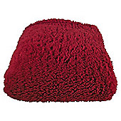 TEDDY FUR THROW RED