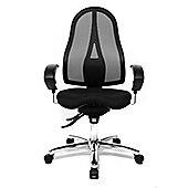Topstar High-Back Mesh Task Chair - Black