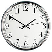 KitchenCraft 25cm Polished Stainless Steel Clock, Display Boxed