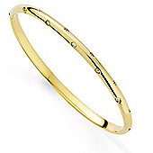 Jewelco London 18ct Yellow Gold - Diamond - Bangle