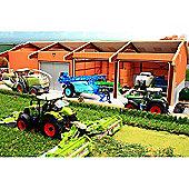 Brushwood Bt8920 Monster 4 Bay Utility Shed - 1:32 Farm Toys