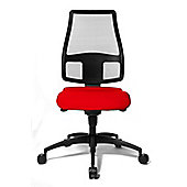Topstar Syncro Net Swivel Chair - Without Arms - Red
