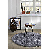 Esprit Cosy Glamour Silver Woven Rug - 160 cm x 225 cm (5 ft 3 in x 7 ft 5 in)