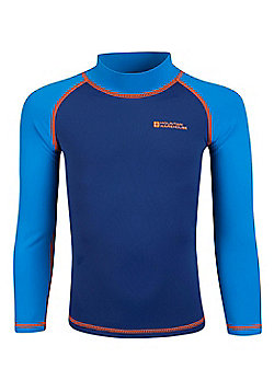 Mountain Warehouse Kids Long Sleeved Rash Vest - Blue